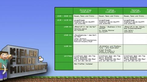 Kieler Förde Minecraft Camp - Ein virtuelles Kiel wird erschaffen